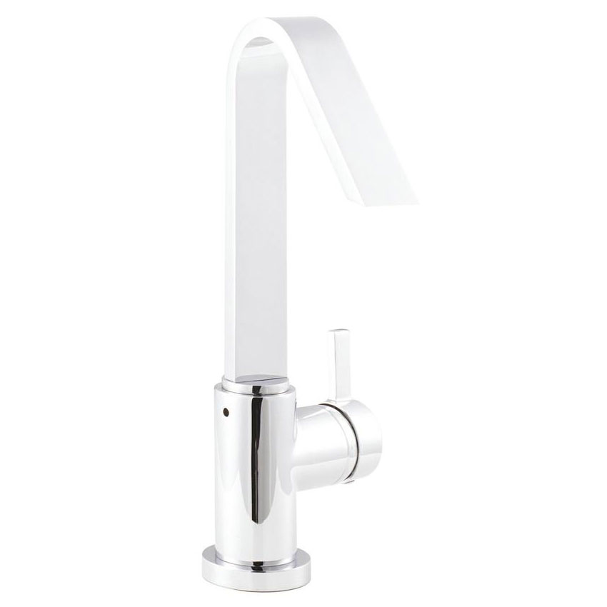 Hudson Reed Clio Side Action Single Lever Basin Mixer - MG380 profile large image view 1