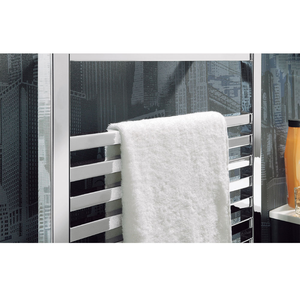 Bauhaus - Magnum Standard Straight Towel Rail - Chrome - 3 Size Options Profile Large Image