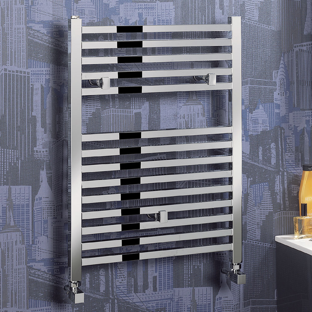 Bauhaus - Magnum Standard Straight Towel Rail - Chrome - 3 Size Options Feature Large Image