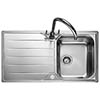 Rangemaster Michigan 1.0 Bowl Stainless Steel Kitchen Sink profile small image view 1