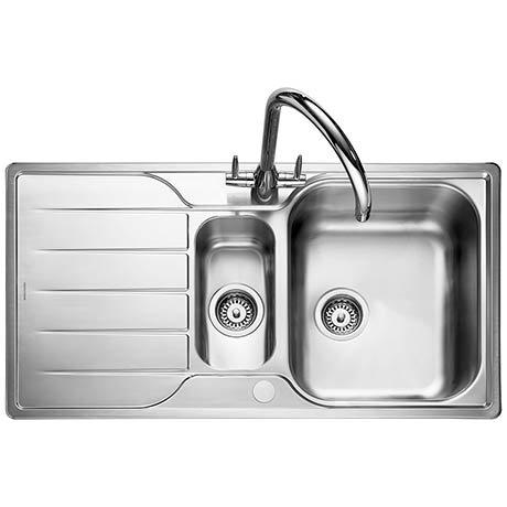 Rangemaster Michigan 1.5 Bowl Stainless Steel Kitchen Sink
