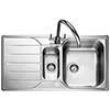 Rangemaster Michigan 1.5 Bowl Stainless Steel Kitchen Sink profile small image view 1