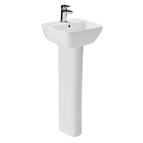 Britton MyHome 40cm 1TH Basin with Full Pedestal
