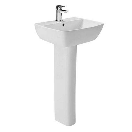 Britton MyHome 55cm 1TH Basin with Full Pedestal