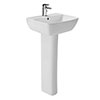 Britton MyHome 60cm 1TH Basin with Full Pedestal profile small image view 1