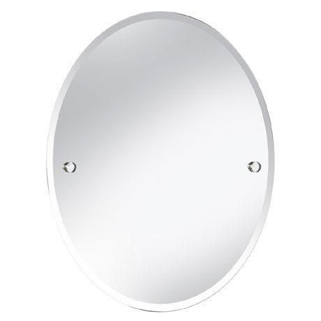 Heritage Harlesden Oval Mirror - Chrome - MHDOVC