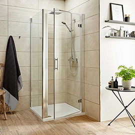 Turin 8mm Square Hinged Door Shower Enclosure - Easy Fit