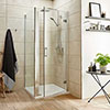 Turin 8mm Square Hinged Door Shower Enclosure - Easy Fit profile small image view 1