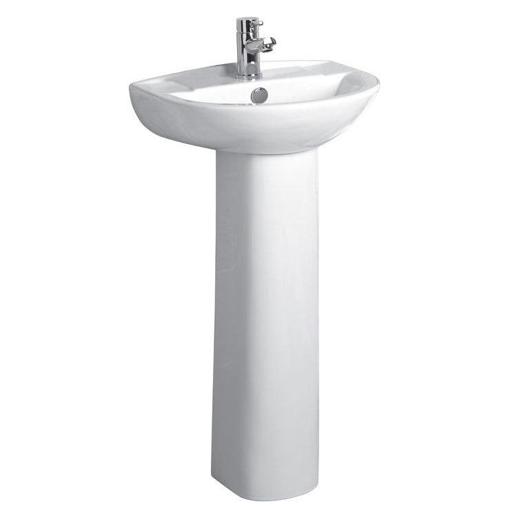 Tavistock Micra 450mm Ceramic Basin & Pedestal Large Image