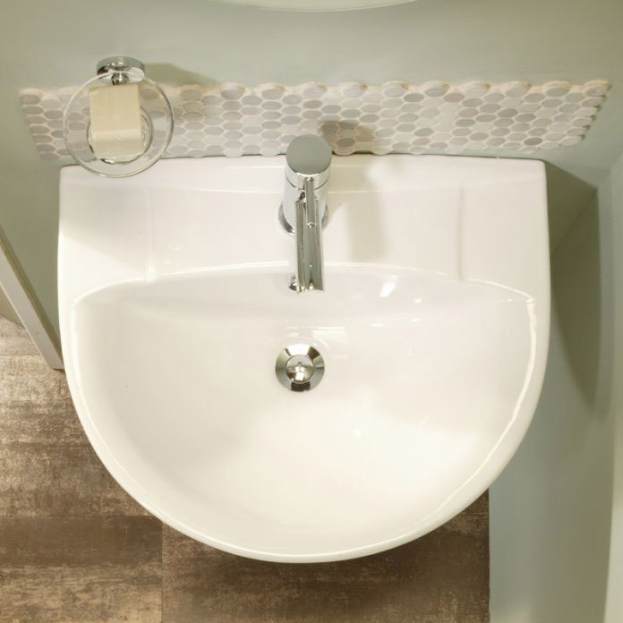Tavistock Micra 565mm Ceramic Basin & Pedestal profile large image view 2