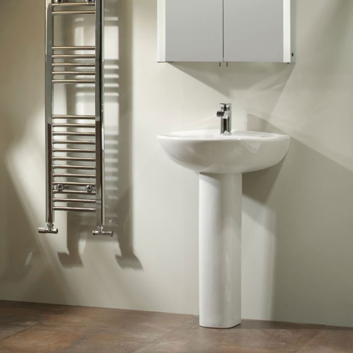Tavistock Micra 565mm Ceramic Basin & Pedestal profile large image view 3
