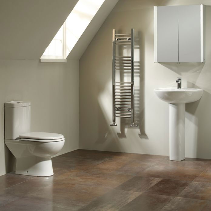 Tavistock Micra 565mm Ceramic Basin & Pedestal profile large image view 4