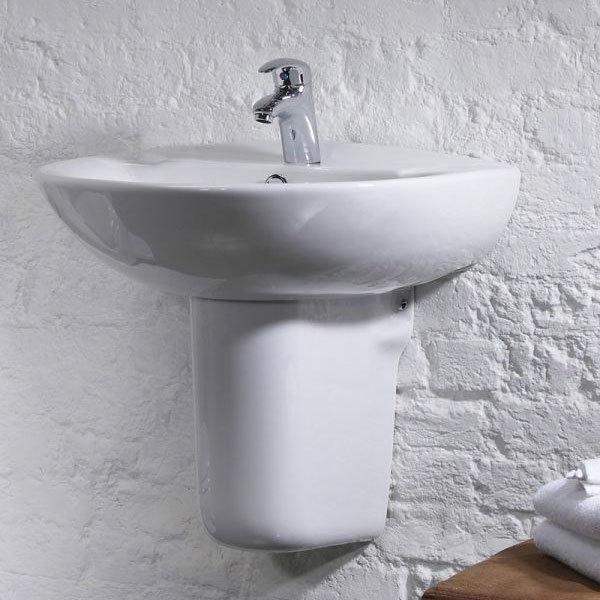Tavistock Micra 565mm Ceramic Basin & Semi-Pedestal Profile Large Image