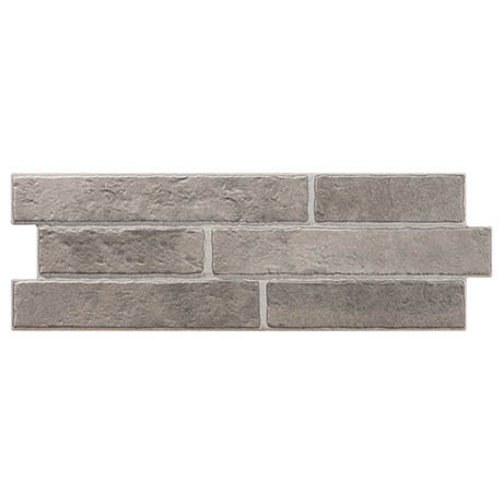 Michigan Grey Rustic Brick Effect Tiles - 170 x 520mm