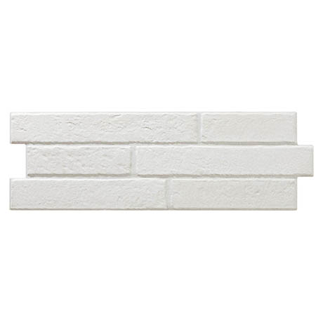 Michigan White Rustic Brick Effect Tiles - 170 x 520mm