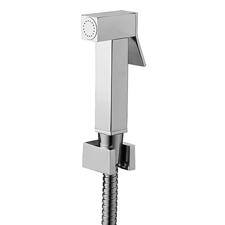 Milan Square Douche Shower Spray kit with Wall Bracket + Hose