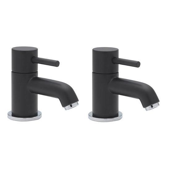 Tre Mercati - Milan Black Bath Taps - 63320 Large Image