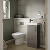 Milan Grey Avola Cloakroom Suite (Toilet, Concealed Cistern + Vanity Unit) profile small image view 1