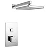 Milan Square Concealed Push-Button Valve + Rainfall Shower Head profile small image view 1