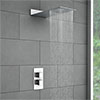 Milan Square Shower Package with Concealed Valve + Flat Fixed Shower Head profile small image view 1