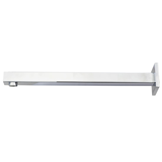 Milan Square Wall Mounted Shower Arm - Chrome profile large image view 2