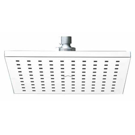 Milan 200 x 200mm Square Shower Head with Swivel Joint  Profile Large Image