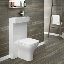 Milan Polymarble Combined Two-In-One Wash Basin + Toilet Medium Image