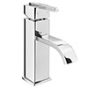 Milan Modern Mono Basin Mixer Tap with Waste - Chrome profile small image view 1