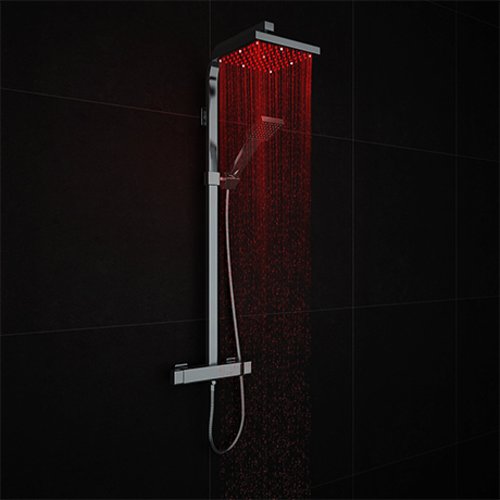 Milan Modern LED Thermostatic Shower - Chrome