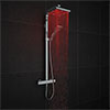 Milan Modern LED Thermostatic Shower - Chrome profile small image view 1