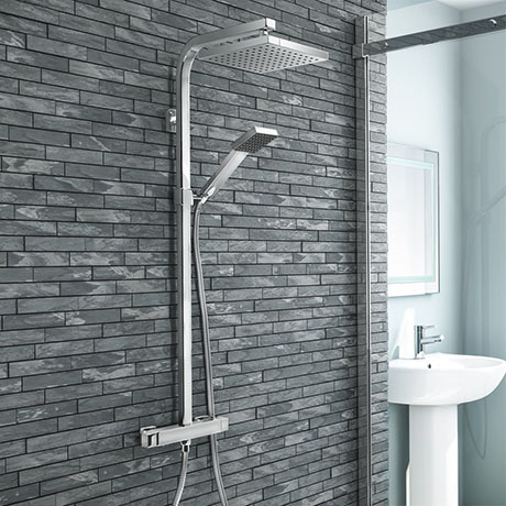 Milan Modern Thermostatic Shower - Chrome
