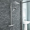 Milan Modern Thermostatic Shower - Chrome profile small image view 1
