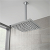 Milan Ultra Thin Square Shower Head with Vertical Arm - 300x300mm profile small image view 1