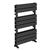 Milan Anthracite 800 x 500mm Double Panel Heated Towel Rail profile small image view 1