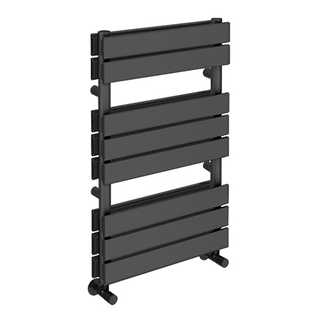 Milan Anthracite 800 x 500mm Double Panel Heated Towel Rail