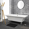 Milan 1520 Square Modern Roll Top Bath with Legs profile small image view 1