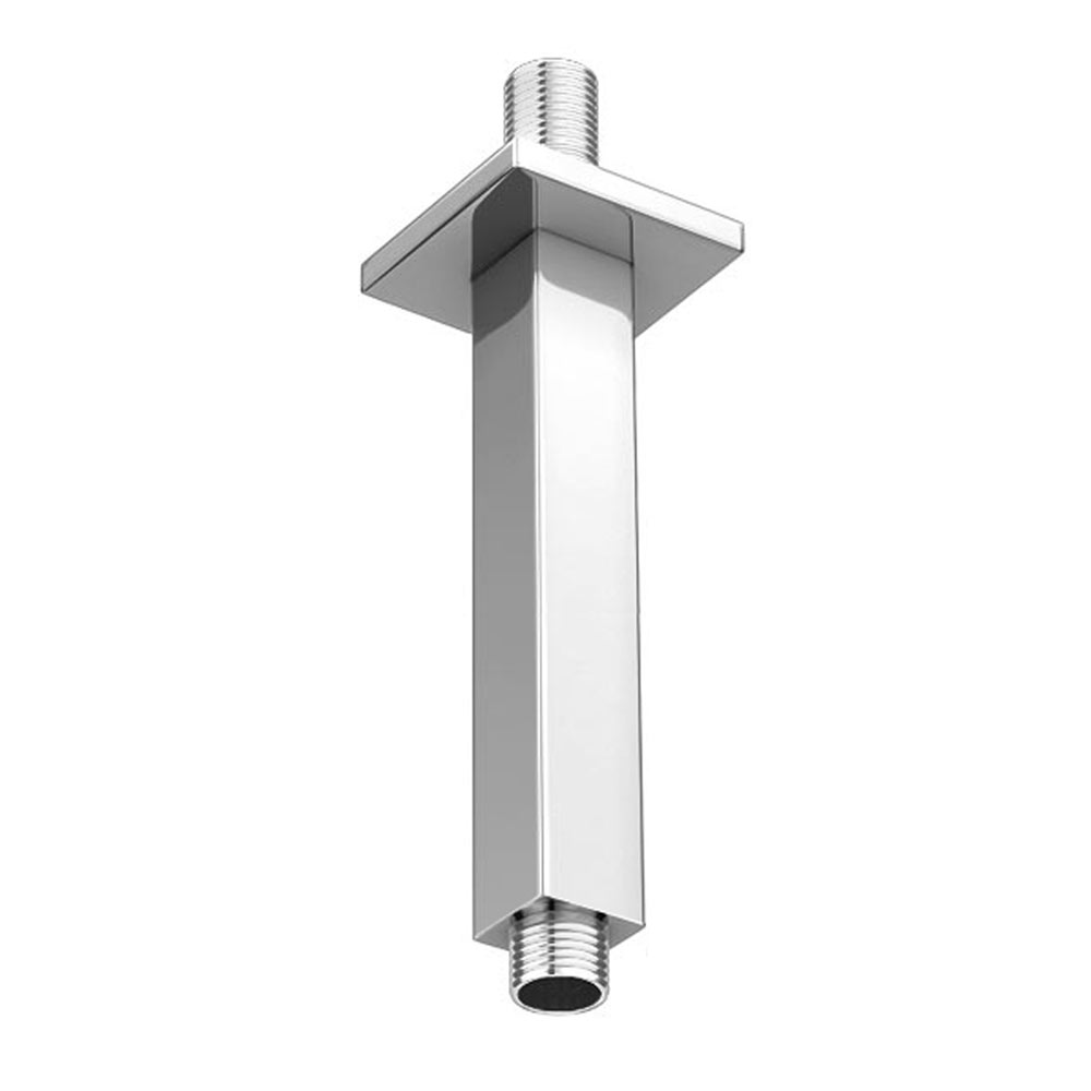 Milan Square 150mm Vertical Shower Arm - Chrome