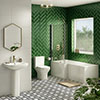 Milan Modern Shower Bath Suite profile small image view 1