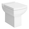Milan Square Back To Wall Toilet + Soft Close Seat profile small image view 1