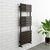 Milan Black Nickel 1200 x 500mm Single Panel Heated Towel Rail profile small image view 1