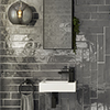 Mileto Brick Grey Gloss Ceramic Wall Tile - 75 x 300mm Small Image
