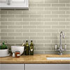 Mileto Olive Gloss Ceramic Wall Tile - 75 x 300mm Small Image
