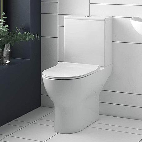 Mileto Close Coupled Rimless Toilet + Soft Close Seat
