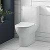 Mileto Close Coupled Rimless Toilet + Soft Close Seat profile small image view 1