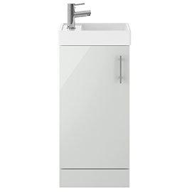 Milan 400mm Grey Mist Small Floor Standing Vanity Basin Unit