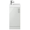Milan 400mm Grey Mist Small Floor Standing Vanity Basin Unit profile small image view 1