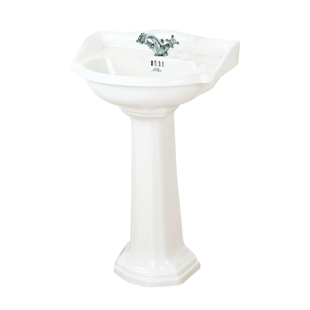 Miller - 535mm Traditional 1TH Basin with Full Pedestal Large Image