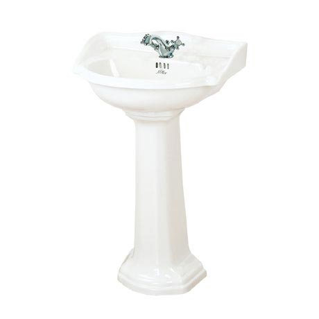 Miller - 535mm Traditional 1TH Basin with Full Pedestal