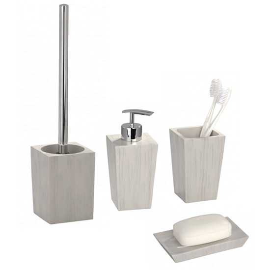 Wenko Milos Bathroom Accessories Set At Victorian Plumbing Uk