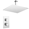 Milan Twin Concealed Thermostatic Valve + 400x400mm Rainfall Shower Head profile small image view 1